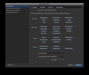 Create a dynamic, custom naming scheme to transform the Clip name.